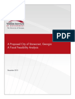 A Proposed City of Stonecrest, Georgia A Fiscal Feasibility Analysis December, 2013