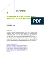 Microsoft Windows Resolver DNS Cache Poisoning