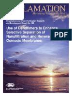 Report140 Selective Separation -Nanofiltration RO Membranes