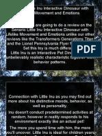 Senario Little Inu Interactive Dinosaur With Lifelike Movement and Emotions PDF