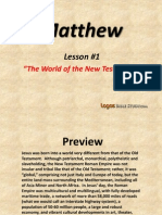 1. The World of the New Testament