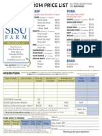 Dakota Sisu Farm Price List and Order Form - 2014