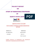 Maruti Udyog Limted Study of Marketing Strategies