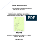 Informe Microzonificacion Sismica Sjl