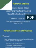 Pushover static analysis