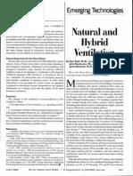 Natural and Hybrid Ventilation