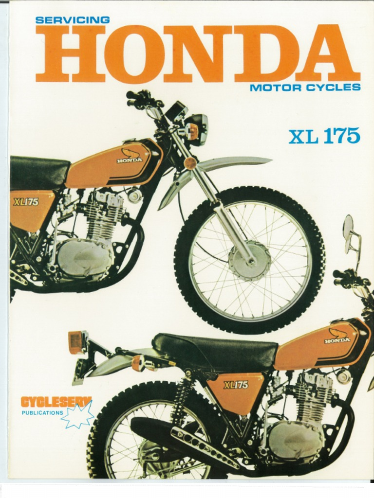 honda xl175 cycleserv manual rh scribd com honda xl175 wiring diagram Honda XL125