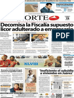 Periódico Norte edición impresa día 19 de enero 2014