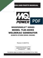 Welder Generators TLW300SS Rev 2 Manual DataId 19336 Version 1