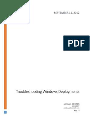 Troubleshooting Windows Deployments Mdt 2012 | Microsoft