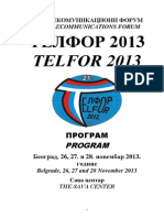 Program Telfor 2013