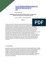 Pendidikan Dalam Sistem Perpolitikan Di Indonesia (Sistem Sentralisasi vs Desentralisasi)