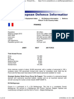 French Armed Forces - French Army - French Navy - French Air Force - European Defence Information