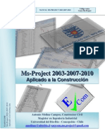 Manual Microsoft Project 2003 2007 2010 Aplicado a La Construccion