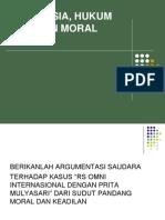 Manusia, Moralitas Dan Hukum