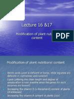 Modification of Plant Nutrient Content