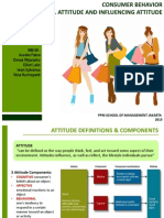 Consumer Behavior - Attitude and Influencing Attitude