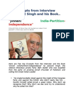 Jinnah India Partition and Independence by Jaswant Singh