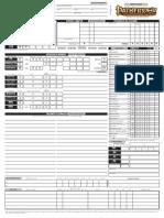 Scheda del Personaggio per Pathfinder GdR