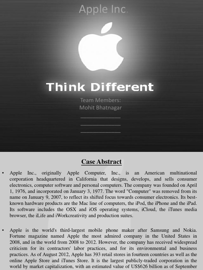 apple 2012 case study