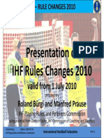 Rules of Changes 2010