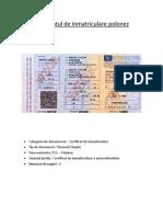 Certificatul de Inmatriculare Polonez