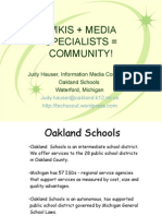 Wikis + Media Specialists = Community!