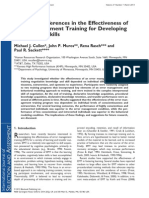 Error management of training for developing negotiation skills