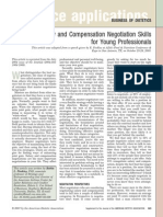 Salary and compensation negotiation skills