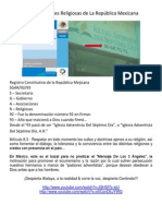 Asociaciones Religiosas de La Republica Mexicana