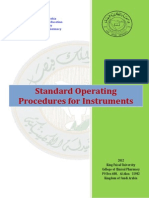 Standard Operating Procedures for Instruments 2012