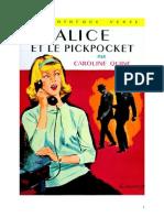 Caroline Quine Alice Roy 20 BV Alice Et Le Pickpocket 1943