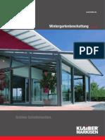 KLAIBER Markisen Wintergartenbeschattung Version 02 2012 Web
