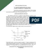 Studiul Variatiei Rezistentei Electrice a Semiconductoarelor Cu Temperatura