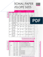 International Paper & Envelope Sizes