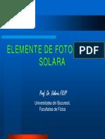 Elemente de Fotometrie Solara