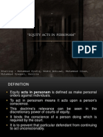 Equity Act in Personam