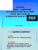 Legalidad y Legitimidad - Bolivia 1
