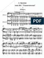 Bruckner - 4th Symphony (Piano Duet) score
