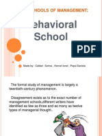 Basic Schools of Management