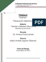 EXAMEN PLANEACIÓN DIDÁCTICA MARIO AGUIRRE