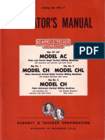 Kerney & Trecker AC, CH, &, CHL OperatorsManual