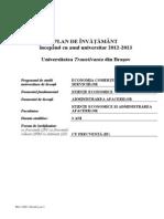 Plan Invatamant Economia Comertului, Turismului Si Serviciilor 2012-2013