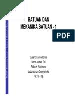 0 - TA3111-1 Batuan & Mekanika Batuan