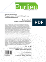 The legitimation of analytic philosophy in the university