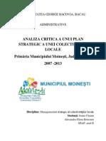Analiza Critica a Unui Plan Strategic a Unei Colectivitati Locale Remodif