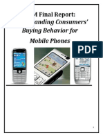 Understanding Consumers' Buying Behavior for Mobiles