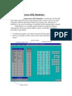 How to Use the 8085 Microprocessor SDK Simulator: