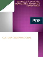 Desarrollo de La Cultura Organizacional Para Lograr Competitividad
