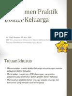 Manajemen Praktik Dokter Keluarga